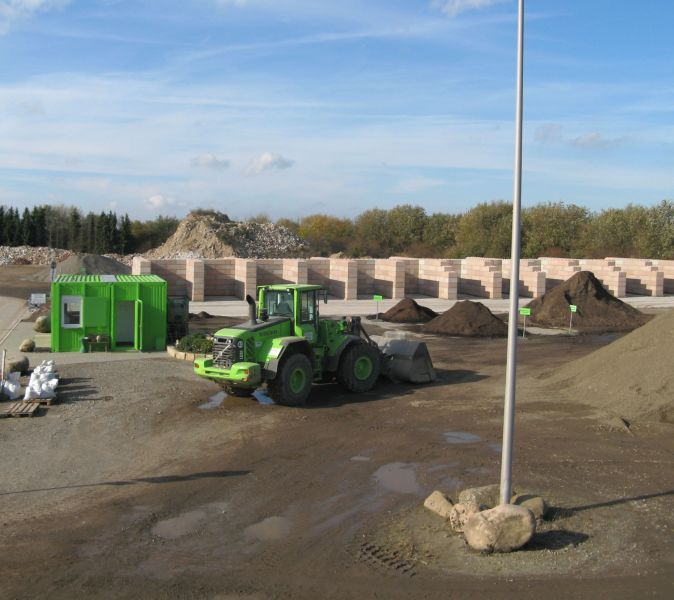Einblick in die Recyclinganlage des Recycling-Parks Goslars